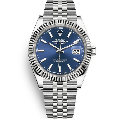 Rolex Oyster Perpetual Datejust Blue Dial 41mm 162334
