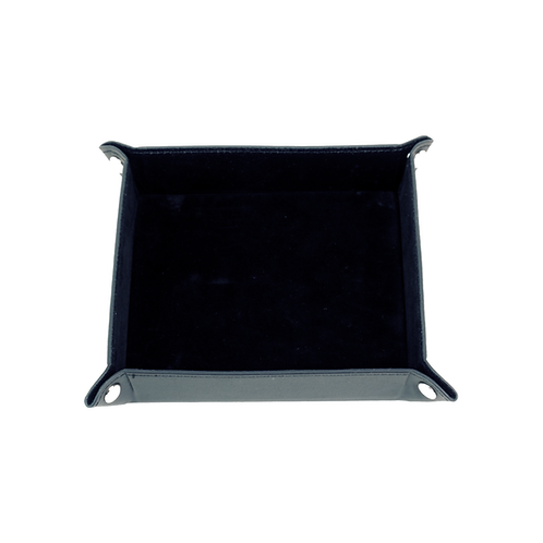 Valet Tray Black Leather  – Medium