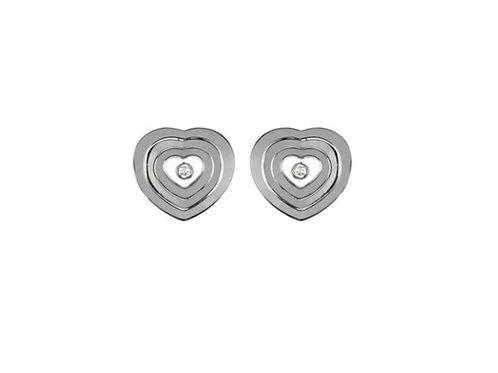 Chopard Happy Spirit White Gold Diamond Earrings 837855-1001