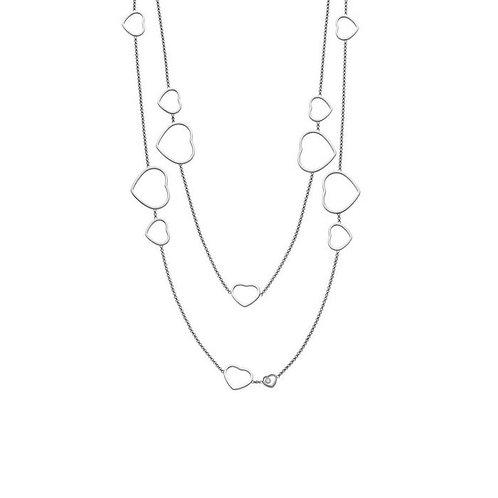 Chopard Happy Hearts White Gold Diamond Necklace 817482-1001 01, 817482.1001, 817482/1001