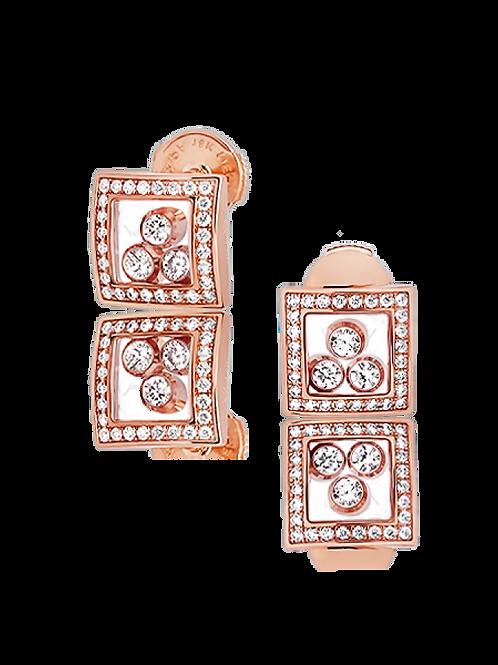 Chopard Happy Curves Rose Gold Diamond Earrings 839224-5002