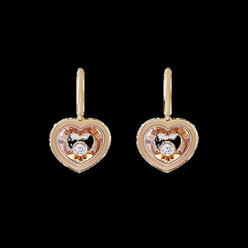 chopard very chopard earrings rose gold