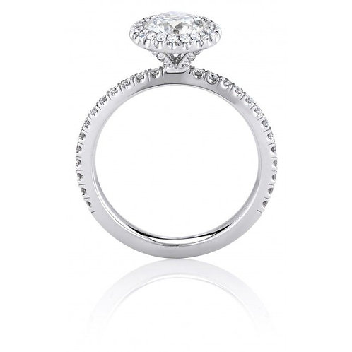 De Beers Halo Aura rings engagement