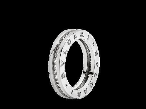 Bvlgari B.Zero1 18K White Gold 1-Band Diamond Pave Ring Abj24.com