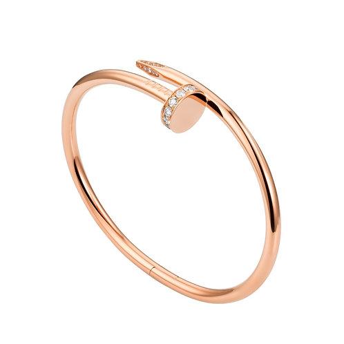 Cartier Rose Gold Diamond Juste Un Clou Bracelet B6048517