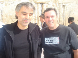 with Bocelli in Israel