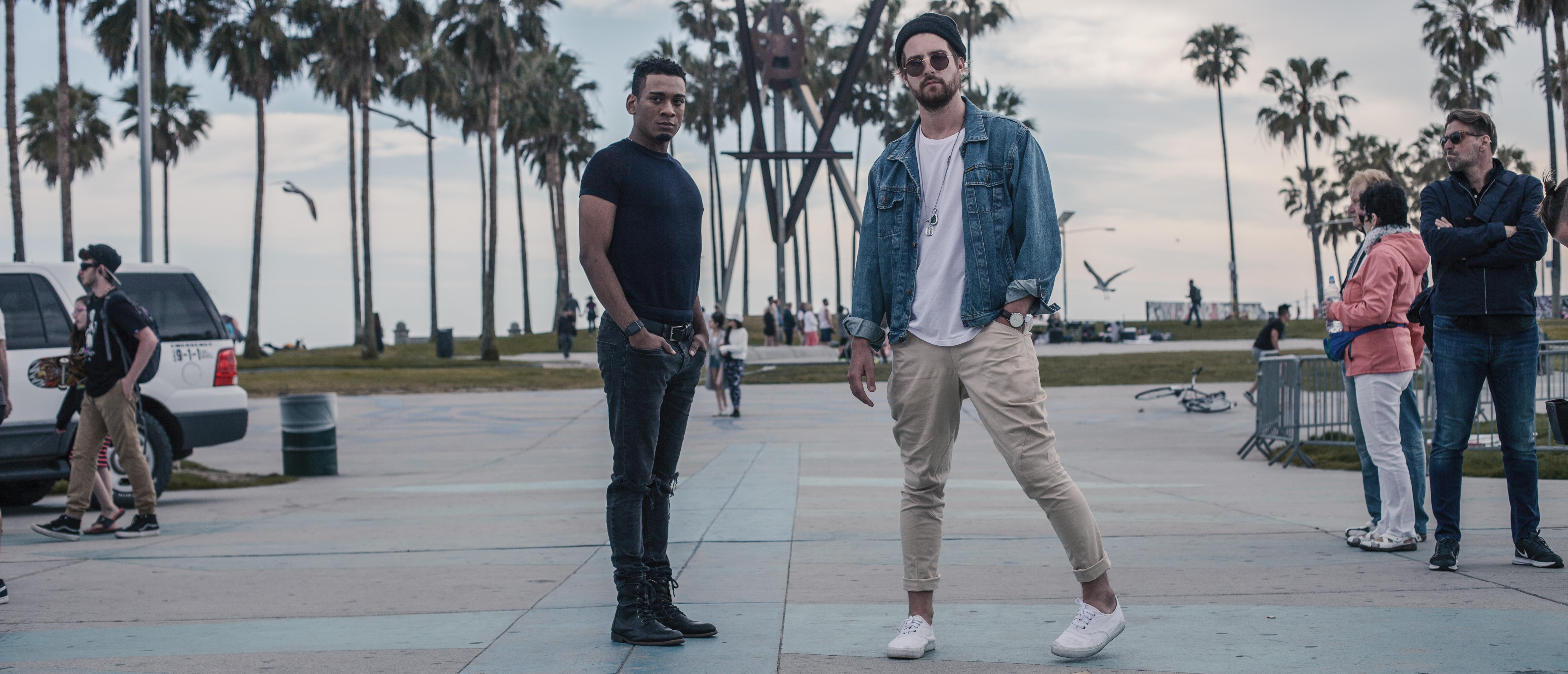 Josh and Dominic in Venice