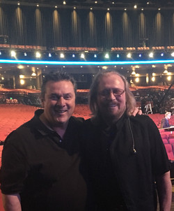 At the taping of the Grammy tribute to The Bee Gees with Barry Gibb