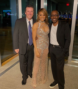 with Deborah Cox and Greg Phillinganes at the Super Bowl