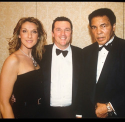 With Celine and Muhammad Ali  at Celebrity Fight Night, the fundraising event featuring Muhammad Ali