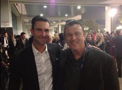 with Adam Levine