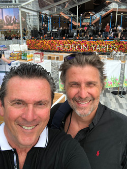 with Hannes M. Schalle at the Hudson Yards opening