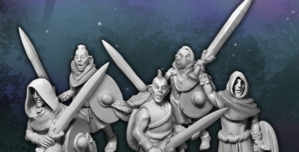 Woad Elves - Swords and Shields
