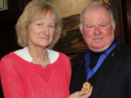 Mike receives prestigious Town Medal