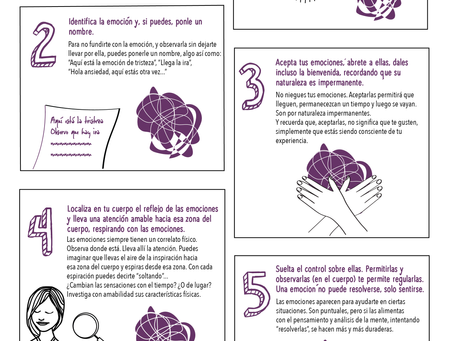 Cinco pasos para regular emociones difíciles con Mindfulness