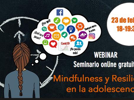 Webinar gratuito sobre mindfulness para adolescentes