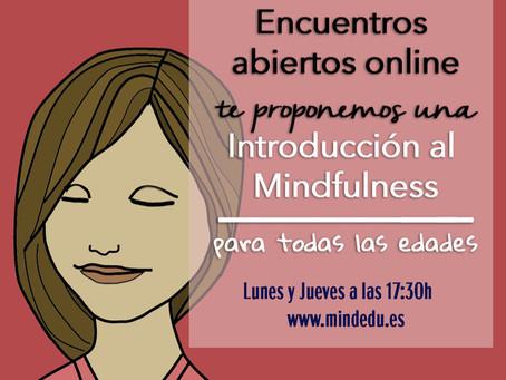 Mindfulness: encuentros abiertos online en abril