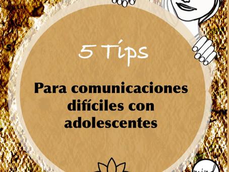 Cinco tips para comunicaciones difíciles con adolescentes
