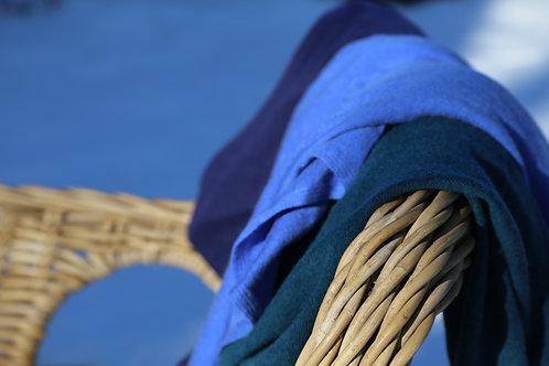 Purple-ocean blue-dark türkis Ponchos