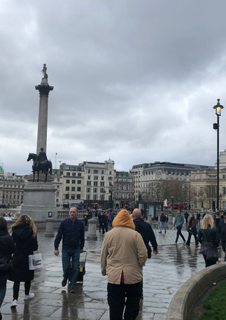 Travalgar Square and Nelson's Column
