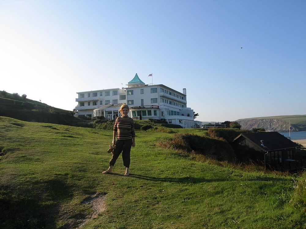 Jackie Rowe's first visit to Burgh Island Hotel