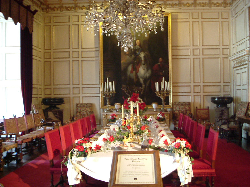 The Dining Room at Warwick Castle