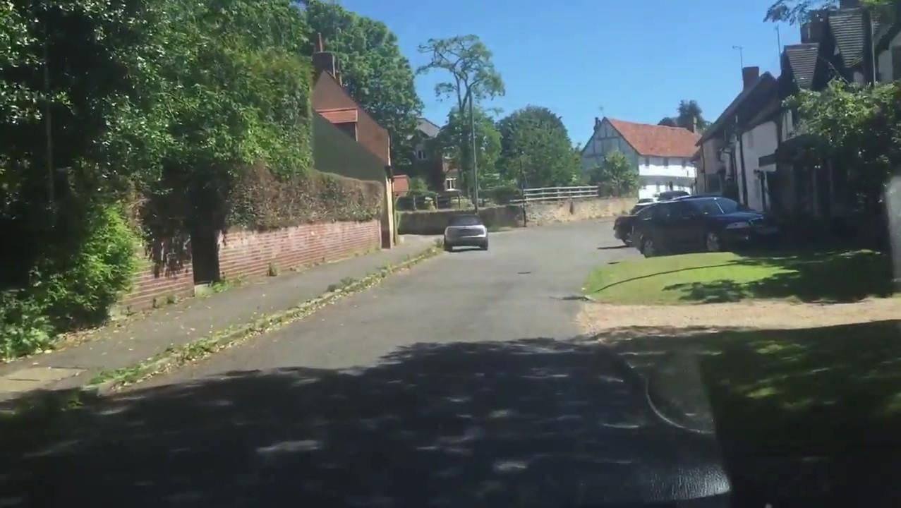 Driving down Long Crendon High Street