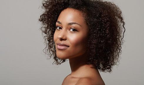 Black Woman With Flacky Scalp