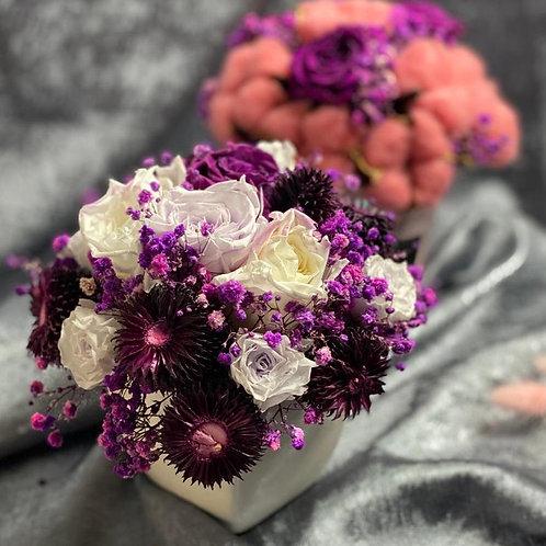 Букет с сухоцветом розы 433