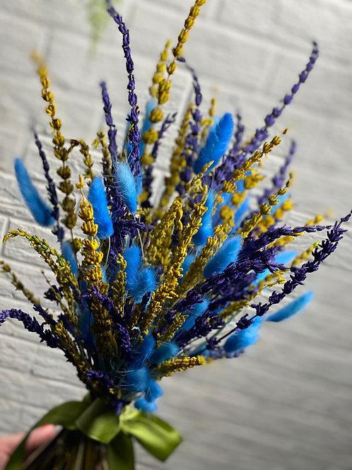 Букет из сухоцветов лаванда 427