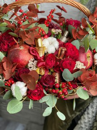 Корзина с розами 403