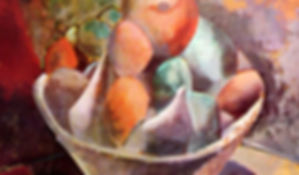 CUBISMO. 1908. Compotera y frutas. Pablo