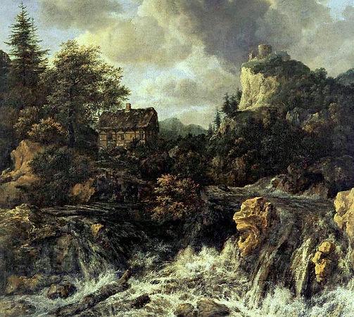 BARROCO.Jacobo Ruisdael. La cascada..166