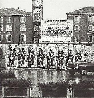 1974. Arte urbano. Niza. Ernest Pignon-Ernest.