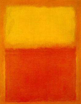 1960. Rojo y amarillo. Marc Rothko.