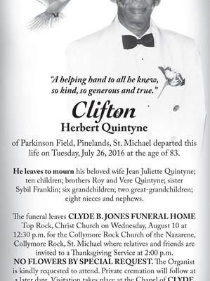 Clifton Herbert Quintyne