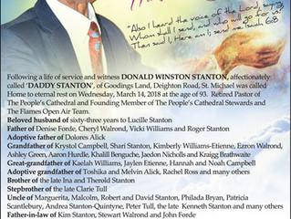 Pastor Donald Winston Stanton