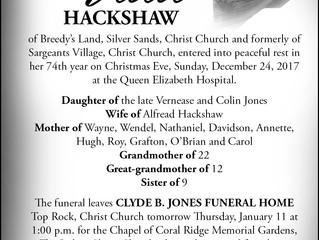 Vida Hackshaw