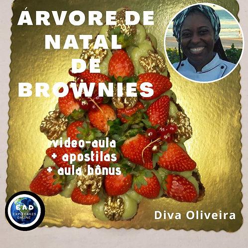 ARVORE DE NATAL DE BROWNIES