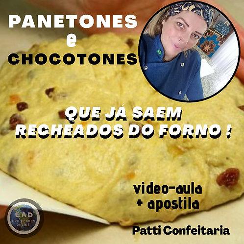 PANETONES E CHOCOTONES QUE JÁ SAEM RECHEADOS DO FORNO