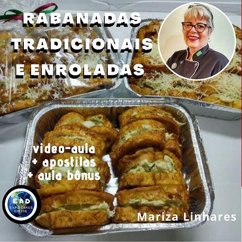 RABANADAS TRADICIONAIS E ENROLADAS