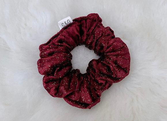 Burgundy Sparkle Velvet