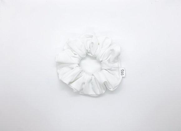 White Swim Knit Scrunchie