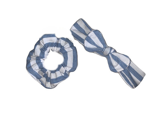 Blue stripes Mommy & Me Set