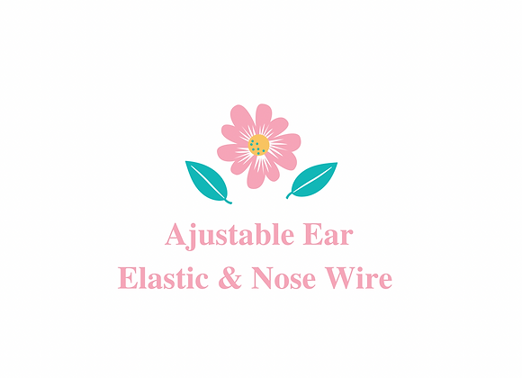 Ajustable Ear Elastic & Nose Wire