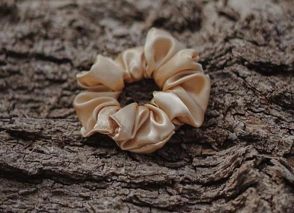 Caramel Silk Scrunchie