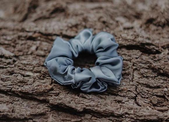 Blueish Grey Silk Scrunchie