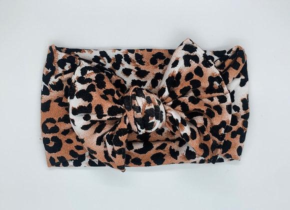 Cheetah Topknot Headband