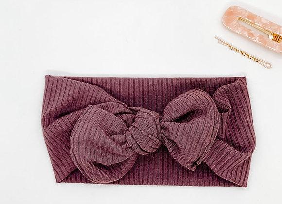Purple Rib Knit