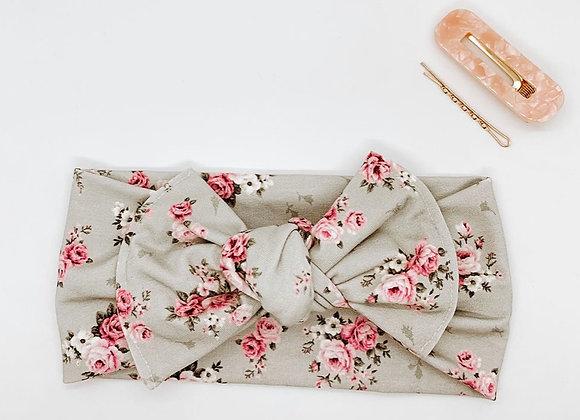 Grey Pink Floral